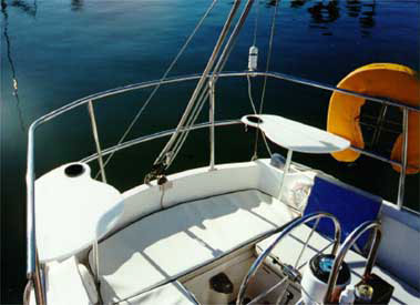 SternPerch sailboat seats for stern rails of older boats